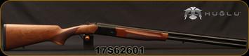 "Huglu - 20Ga/3""/28"" - Eagle S - Turkish Walnut/Blued, Black Lightweight Receiver/Chrome-Lined Barrels, Extractor, 5pc mobile choke, SKU# 8681715390208, S/N 17S62601"