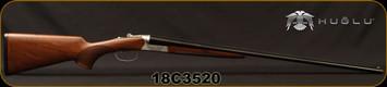 "Huglu - 410Ga/3""/28"" - 202B - Turkish Walnut English Stock/Hand Engraved Silver Receiver/Blued Barrel, Fixed Choke, SKU# 8682109401616, S/N 18C3520"