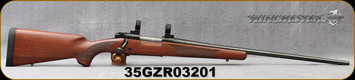 """Consign - Winchester - 325WSM - Model 70 Sporter - Bolt Action Rifle - Walnut Stock/Blued Finish, 24""""Barrel, Adjustable Trigger, Mfg# 535202277 - Only 25 rounds fired (Barrel break-in), c/w 1""""Talley Med. - In original box"""