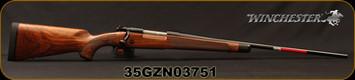 "Winchester - 270Win - Model 70 Super Grade French Walnut - Bolt Action Rifle - AAA French Walnut Stock w/Ebony Forearm Tip/'Super Grade' Engraved Hinged Floorplate/Polished Blued, 24""Barrel, Mfg# 535239226, S/N 35GZN03751"