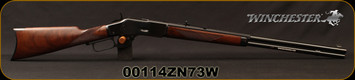 """Winchester - 44-40Win - Model 1873 Deluxe Sporter - Lever Action Rifle - Grade III Walnut/Polished Blued, 24 1/4""""Half Octagon/Half Round Barrel, Button Rifled, Crescent Butt Plate, Mfg# 534274140, S/N 00114ZN73W"""