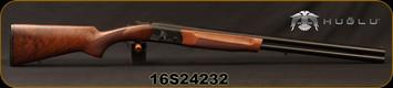 """Huglu - 12Ga/3""""/28"""" - Eagle G - O/U - Extractors - Turkish Walnut/Black Laser Engraved Receiver/Chrome Lined Barrels, 5pc. Mobile Choke, Red Fiber Optic Front Sight, Sku: 8681715390727, S/N 16S24232"""