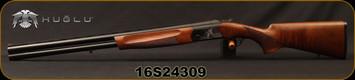 """Huglu - 12Ga/3""""/26"""" - Eagle G - O/U - Extractors - Turkish Walnut/Black Laser Engraved Receiver/Chrome Lined Barrels, 5pc. Mobile Choke, Red Fiber Optic Front Sight, Sku: 8681715390727, S/N 16S24309"""