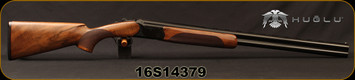 "Huglu - 12Ga/3""/28"" - 103D - O/U - Extractors - Turkish Walnut/Black hand-engraved receiver/Chrome-Lined Barrels, 5pc. Mobile choke, Sku: 8681715390321, S/N 16S14379"