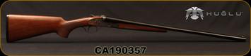 "Huglu - 20Ga/3""/26"" - 200AC - SxS Single Trigger - Select Turkish Walnut/Case Hardened Receiver w/Gr5 Hand Engraving/Blued Barrels, 5pc. Mobile Choke, SKU# 8681715398297, S/N CA190357"