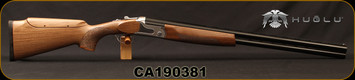 "Huglu - 12Ga/3""/28"" - S12E - Full Size Over/Under - Turkish Walnut Monte Carlo Stock w/Adjustable Comb/Silver Receiver/Chrome-Lined Barrels, Ejectors, SKU# 8681715390840, S/N CA190381"
