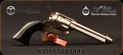"Taylor's & Co - Uberti - 45LC - 1873 Cattleman Nickel Black - Single-Action Revolver - Black Polymer Grips/Nickel finish, 5.5""Barrel, Fixed Front Blade, Rear Frame Notch sights, Mfg# 555116"