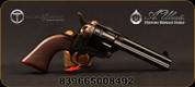 "Taylor's & Co - Uberti - 45LC - Short Stroke Smoke Wagon - Revolver - Checkered Walnut Grips/Case Hardened Frame/Blued, 4.75""Barrel, Fixed Front Blade, Rear Frame Notch, Mfg# 556201"