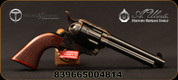 "Taylor's & Co - Uberti - 44-40 - The Smoke Wagon - Revolver - Checkered Walnut Grips/Case Hardened Frame/Blued, 5.5""Barrel, Fixed Front Blade, Rear Frame Notch, Mfg# 4112"