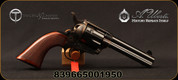 """Taylor's & Co - Uberti - 45LC - The Gunfighter - Revolver - Checkered Walnut Grips/Case Hardened Frame/Blued, 4.75""""Barrel, Fixed Front Blade, Rear Frame Notch, Mfg# 555151"""