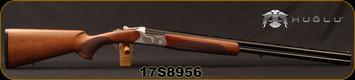 "Huglu - 20Ga/3""/28"" - 103DE - O/U w/Ejectors - Turkish Walnut/Silver Hand-Engraved Receiver/Chrome-Lined Barrels, 5pc.Mobile Choke, Sku# 8681715391120, S/N 17S8956"