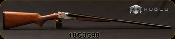 "Huglu - 28Ga/2.75""/28"" - 201A - SxS Double Trigger - Turkish Walnut Standard Grip Stock/Silver Receiver w/Gold inlay birds Grade 4 Engraving/Chrome-Lined barrels, 5pc. Mobile Choke System, SKU# 8682109402842, S/N 18C3598"