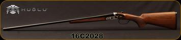 "Huglu - 28Ga/2.75""/28"" - 201A - SxS Double Trigger - Turkish Walnut Standard Grip Stock/Black & Silver Receiver w/Gold inlay birds/Chrome-Lined barrels, 5pc. Mobile Choke System, SKU# 8681715392035, S/N 16C2028"