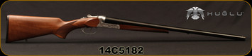 "Huglu - 12Ga/3""/26"" - 202B Sunken - SxS Double Trigger - Turkish Walnut/Silver Hand Engraved Receiver/Chrome-Lined Barrels, Sunken Rib, 5pc.Mobile Choke, Sku: 8681715391540, S/N 14C5182"