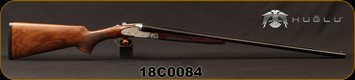 "Huglu - 28Ga/2.75""/26"" - 200AC Mini - SxS Single Trigger - Turkish Walnut/Engraved Receiver w/Gold Inlay Birds/Chrome-Lined Barrels, 5pc. Mobile Choke, SKU# 8681715398358, S/N 18C0084"