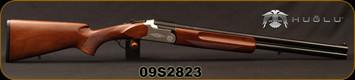 "Huglu - 12Ga/3""/24"" - 104A - O/U Double Trigger - Extractors - Turkish Walnut Standard Grip/Silver Receiver/Chrome-Lined Barrels, Fixed Choke, Brass Bead Front Sight, Sku: 8682109400626, S/N 09S2823"