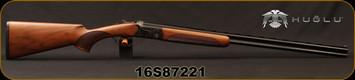 "Huglu - 410Ga/3""/28"" - 103D - O/U single trigger - Extractors - Turkish Walnut/Hand Engraved Case Hardened Receiver/Chrome-Lined Barrels, Fixed Choke, Sku: 8681715390383, S/N 16S87221"