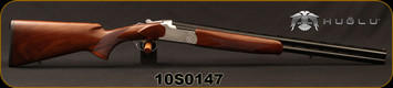 "Huglu - 20Ga/3""/24"" - 103D - O/U Single Trigger - Extractors - Turkish Walnut/Hand Engraved Silver Receiver/Chrome-Lined Barrels, Fixed Choke, Brass Bead Front Sight, Sku: 8681715390338, S/N 10S0147"