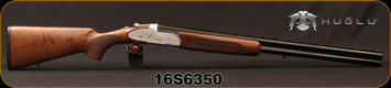 "Huglu - 12Ga/3""/28"" - 103F - O/U, Turkish Walnut/Silver Reciever w/gold inlay birds/Blued Barrel, single trigger, 5pc. Mobile Choke, Sling Swivel Studs, SKU# 8681715390406, S/N 16S6350"
