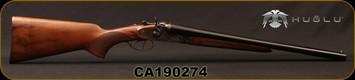 "Huglu - 12Ga/3""/20"" - 201HRZ - Turkish Walnut/Case Hardened Receiver/Chrome-Lined Barrels, Double Trigger, HRZ Hammer, Standard Stock, SKU# 8681715392202, S/N CA190274"