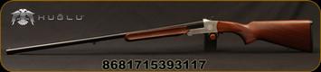 "Huglu - 20Ga/3""/28"" - 301A - Walnut/Silver Receiver/Chrome-Lined Barrel, Fixed choke, Brass Bead Front Sight"
