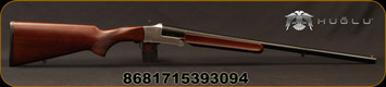 "Huglu - 20Ga/3""/24"" - 301A - Walnut/Silver Receiver/Chrome-Lined Barrel, Fixed choke, Brass Bead Front Sight"