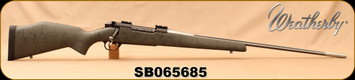 """Used - Weatherby - 300WbyMag - Mark V lightweight - Grey w/Black Web Bell & Carlson/Stainless, 26""""Fluted Barrel - New stock"""