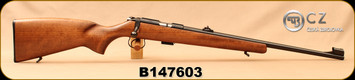 """Consign - CZ - 22LR - 455 Standard - Rimfire Rifle - Beech Wood Stock/Blued, 20.7""""Barrel, Very low rounds fired - In original box"""