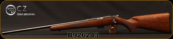 "CZ - 17HMR - 452 American - Left Hand - Turkish Walnut/Blued, 22.5""Barrel, 5rd Detachable Magazine, Integrated 3/8""Dovetail, MFG# 5134-8941-UAAEAA5, S/N B926243"