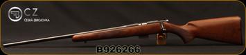"CZ - 17HMR - 452 American - Left Hand - Turkish Walnut/Blued, 22.5""Barrel, 5rd Detachable Magazine, Integrated 3/8""Dovetail, MFG# 5134-8941-UAAEAA5, S/N B926266"