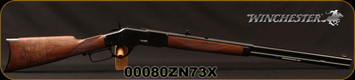 """Winchester - 45Colt - Model 1873 Deluxe Sporter - Lever Action Rifle - Grade III Walnut/Polished Blued, 24 1/4""""Half Octagon/Half Round Barrel, Button Rifled, Crescent Butt Plate, Mfg# 534274145, S/N 00080ZN73X"""