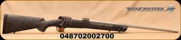 """Winchester - 308Win - Model 70 Coyote Light - Bolt Action Rifle -  Black w/Grey Web Vented Bell and Carlson Stock/Stainless, 24""""Fluted Barrel, 5 Round Capacity, Mfg# 535207220"""