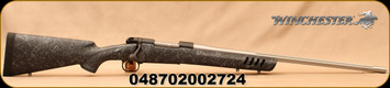 """Winchester - 300WSM - Model 70 Coyote Light - Bolt Action Rifle -  Black w/Grey Web Vented Bell and Carlson Stock/Stainless, Fluted, 24""""Barrel, 3 Round Capacity, Mfg# 535232212"""