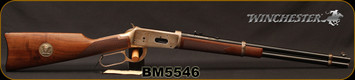 """Used - Winchester - 30-30Win - Model 1894 Sheriff Bat Masterson Commemorative - Lever Action Carbine - Walnut Straight-Grip Stock/Engraved Receiver/Blued, 20""""Barrel - In original box - no papers"""