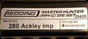 Redding - Master Hunter Deluxe Die Set - 280 Ackley Improved - 29428