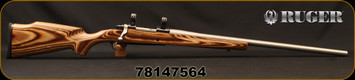 """Used - Ruger - 7mm-08 - M77 Mark II Action - Bolt Action Rifle - Brown Laminate Boyd's Prairie Hunter Stock/Stainless, Match Grade, K.S.Arms 25""""Heavy Barrel, recessed target crown - Unfired"""