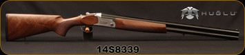 "Huglu - 12Ga/3""/26"" - S12E - Full Size Over/Under - Turkish Walnut Stock/Silver Receiver/Chrome-Lined Barrels, Ejectors, SKU# 868171539084026A, S/N 14S8339"