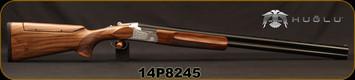 "Huglu - 12Ga/3""/30"" - 101BE Trap - O/U - Ejectors - Turkish Walnut Stock w/Adjustable Comb/Hand Engraved Silver Receiver/Chrome-Lined Barrels, 5 pc. Mobile Choke, SKU# 8682109402798, S/N 14P8245"