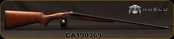 "Huglu - 410Ga/3""/26"" - 200AC Mini - SxS Single Trigger - Select Turkish Walnut/Case Hardened Receiver w/Gr5 Hand Engraving/Blued Barrels, Fixed Choke, SKU# 8681715398280, S/N CA190369"