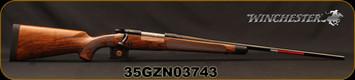 "Winchester - 270Win - Model 70 Super Grade French Walnut - Bolt Action Rifle - AAA French Walnut Stock w/Ebony Forearm Tip/'Super Grade' Engraved Hinged Floorplate/Polished Blued, 24""Barrel, Mfg# 535239226, S/N 35GZN03743"