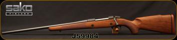 "Consign - Sako - 30-06Sprg - Model 85 Hunter - LH - Walnut Stock/Blued, 22.4""Barrel, c/w Optilock Bases & 1""Rings - In non-original Sako box - Only 20 rounds fired"