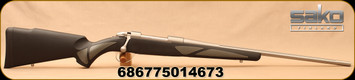"""Sako - 270Win - 85M Finnlight - Bolt Action Rifle - Black Synthetic/Stainless, Fluted, 22.4""""Barrel, 1:10""""Twist Rate, Mfg# JRS1Q18"""