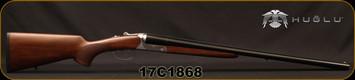 "Huglu - 12Ga/3""/26"" - 202B - SxS Double Trigger - Turkish Walnut/Silver Receiver/Chrome-Lined Barrels, 5pc. Mobile Choke, Sku: 8681715391557, S/N 17C1868"