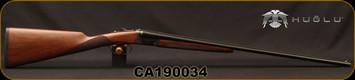 "Huglu - 410Ga/3""/26"" - 202B - SxS - Double Trigger - Turkish Walnut/Case Hardened Receiver/Trigger Guard/Blued Barrel, SKU# 8681715394770, S/N CA190034"