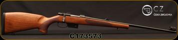 "CZ - 223Rem - Model 527 Lux - Bolt Action Rifle - Turkish Walnut, Bavarian-Style Stock/Blued, 23.6""Barrel, 1:9""Twist, Single set trigger, S/N C173573"