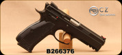 """Consign - CZ - 9mm - 75 SP-01 Shadow Line - Semi-Auto Pistol - AL Grips/Black Polycoat, 4.5"""" Barrel, (6)10 Round magazines, 2 holsters, 2 extended base pads, extra springs - In original hard case"""