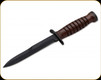"""Boker Plus - M3 Trench Knife - 6.7"""" Blade - Carbon Steel - Leather Handle - 02BO1943"""