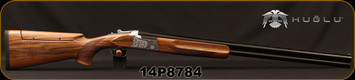 "Huglu - 12Ga/3""/30"" - 101BE Trap - O/U - Ejectors - Turkish Walnut Stock w/Adjustable Comb/Hand Engraved Silver Receiver/Chrome-Lined Barrels, 5 pc. Mobile Choke, SKU# 8682109402798, S/N 14P8784"