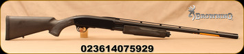 "Browning - 12Ga/3""/26"" - BPS Stalker - Pump Action Shotgun - Black Synthetic Stock/Matte Black Finish, 4 Round Capacity, Mfg#  012212305"