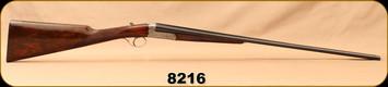 "Consign - Armi F.LLI Piotti - 410Ga/3""/27"" - SxS Boxlock Shotgun - Walnut English Straight-Grip Stock/Engraved Receiver/Blued Barrels - In leather hard case w/canvas case cover"